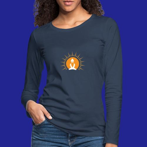 Guramylyfe logo white no text - Women's Premium Longsleeve Shirt