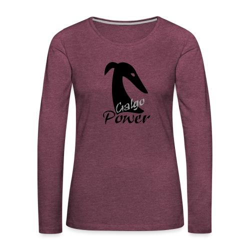 Galgopower - Frauen Premium Langarmshirt