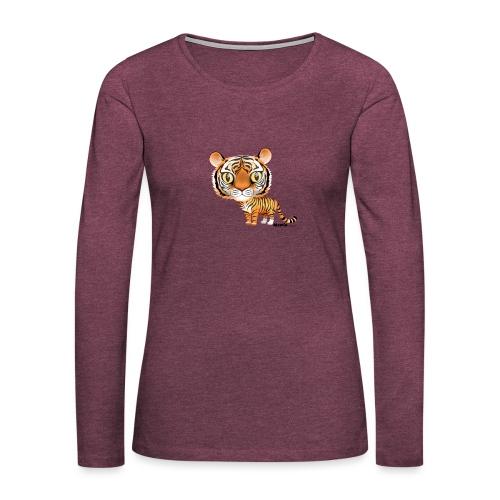 Tijger - Vrouwen Premium shirt met lange mouwen