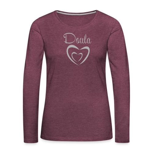 doula sydämet isolla harm - Naisten premium pitkähihainen t-paita
