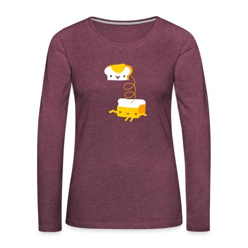 Cat sandwich gatto sandwich - Maglietta Premium a manica lunga da donna