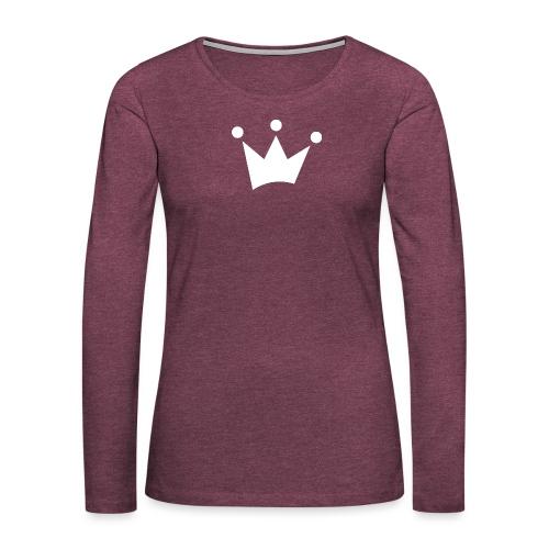 LOF Krone - Frauen Premium Langarmshirt