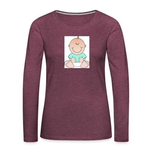 rompertje baby jongen - Vrouwen Premium shirt met lange mouwen