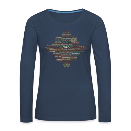 Pytroll wordcloud march 2019 - Women's Premium Longsleeve Shirt