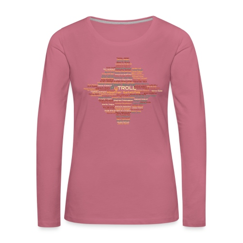Pytroll wordcloud march 2019 - Women's Premium Longsleeve Shirt