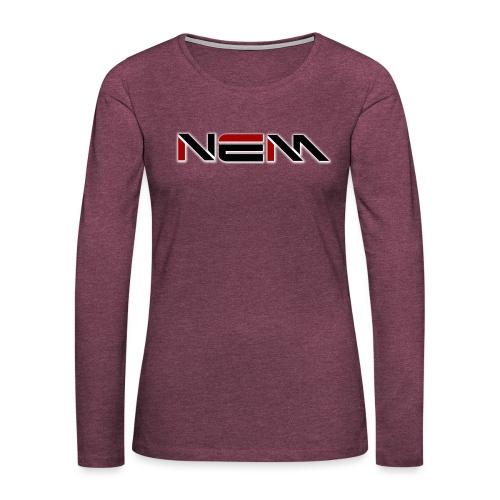 NEM LOGO - Women's Premium Longsleeve Shirt