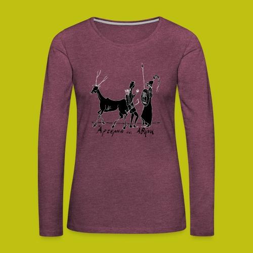 Artemisa y Atenea - Camiseta de manga larga premium mujer