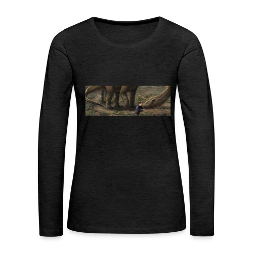 Dinosauriemuggen - Björn älskar dinosaurier! - Långärmad premium-T-shirt dam