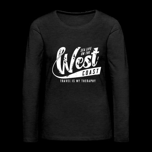 West Coast Sea surf clothes and gifts GP1306A - Naisten premium pitkähihainen t-paita