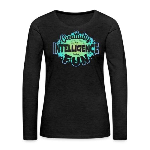 Createlligence - Långärmad premium-T-shirt dam