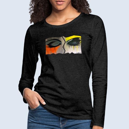 "Augenblick ""closed eyes"" made in Berlin - Frauen Premium Langarmshirt"