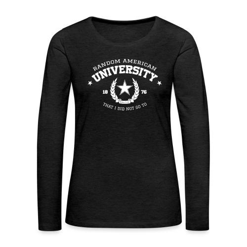 Random University - Vrouwen Premium shirt met lange mouwen