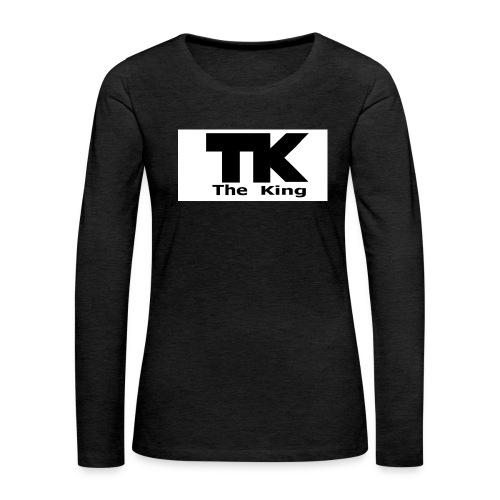 The King med ram - Långärmad premium-T-shirt dam