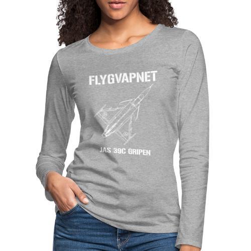 FLYGVAPNET - JAS 39C - Långärmad premium-T-shirt dam