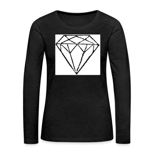 Diamond - Långärmad premium-T-shirt dam