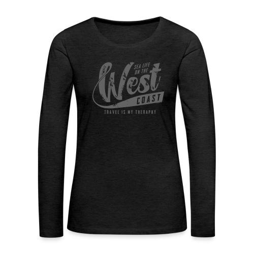 West Coast Sea Surfer Textiles, Gifts, Products - Naisten premium pitkähihainen t-paita