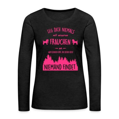 Vorschau: Unser Frauchen - Frauen Premium Langarmshirt