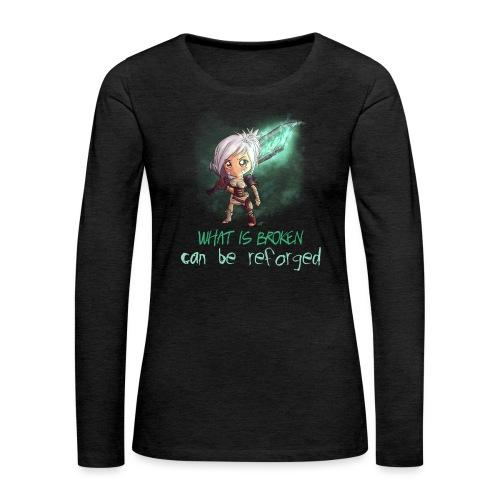 Chibi Riven con scritta DONNA - Maglietta Premium a manica lunga da donna