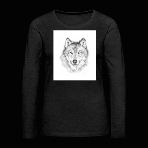 Wolf - Dame premium T-shirt med lange ærmer