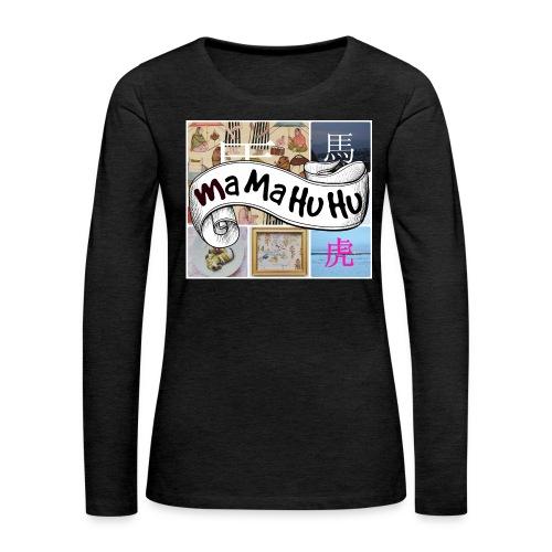 Ma ma hu hu / So-so phonecase - Naisten premium pitkähihainen t-paita