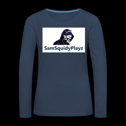 SamSquidyplayz skeleton - Women's Premium Longsleeve Shirt