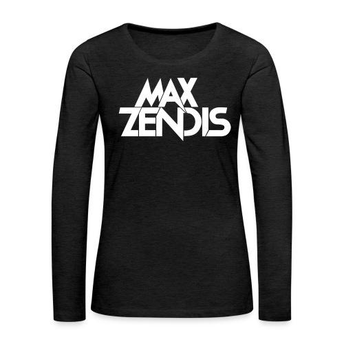 MAX ZENDIS Logo Big - Black/White - Frauen Premium Langarmshirt