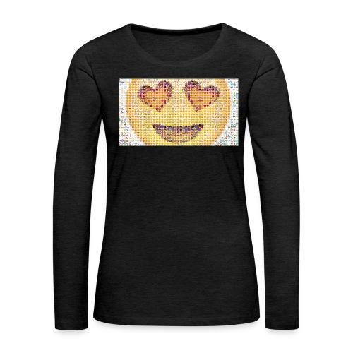 Emoij Hoesje - Vrouwen Premium shirt met lange mouwen