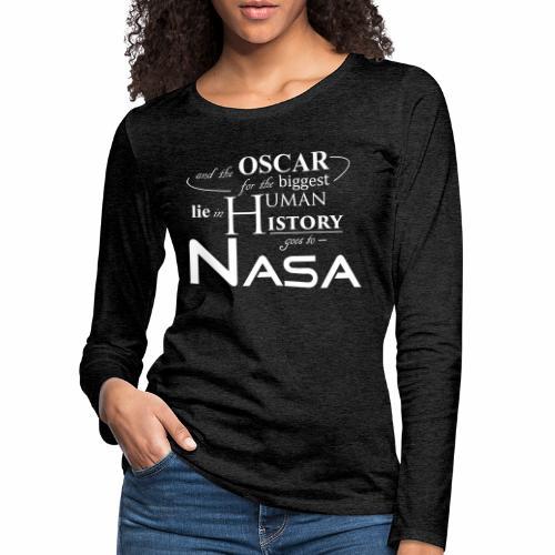 Flat Earth Nasa - Frauen Premium Langarmshirt