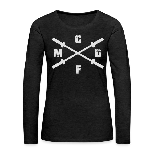 CFMD Crossed Barbells hell - Frauen Premium Langarmshirt
