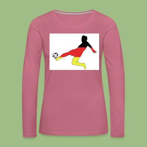 Mario Götze. Germany World Cup Winners - Långärmad premium-T-shirt dam