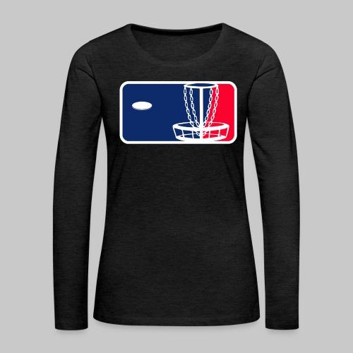 Major League Frisbeegolf - Naisten premium pitkähihainen t-paita