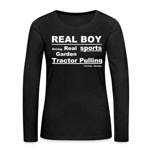 teenager - Real boy - Dame premium T-shirt med lange ærmer