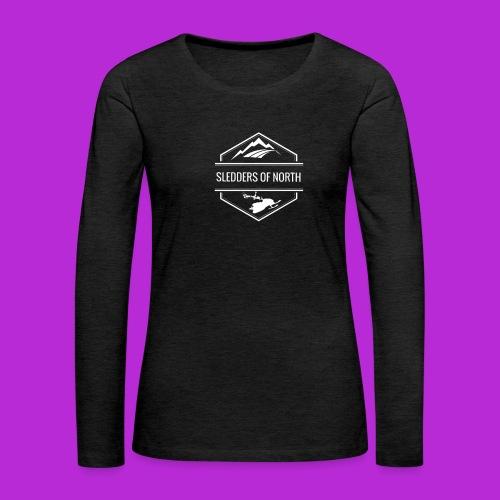 SoN T-Shirt White Logo - Women's Premium Longsleeve Shirt