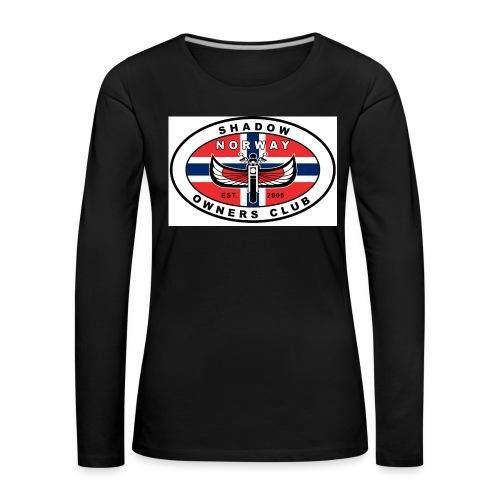 SHOC Norway Patch jpg - Premium langermet T-skjorte for kvinner