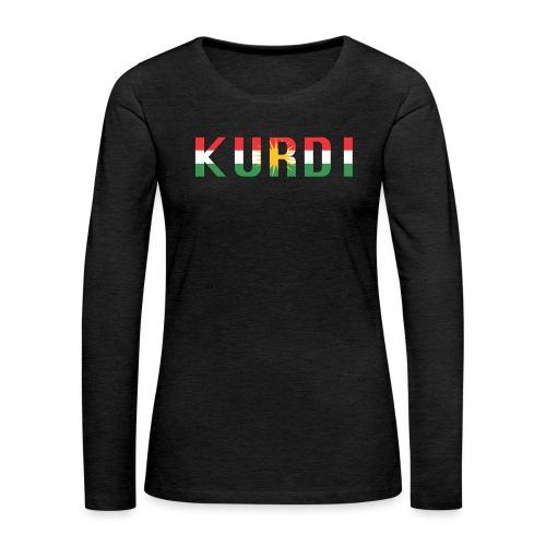 KURDI LOGO - Frauen Premium Langarmshirt