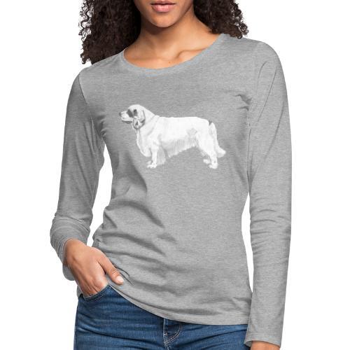 clumber spaniel - Dame premium T-shirt med lange ærmer