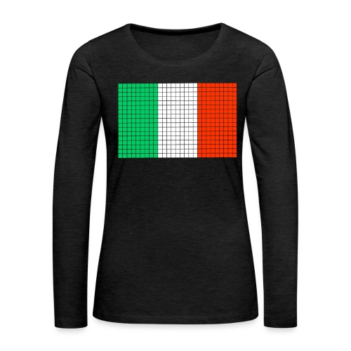 italian flag - Maglietta Premium a manica lunga da donna