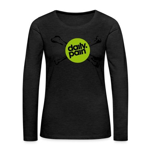 daily pain cho kark - Koszulka damska Premium z długim rękawem