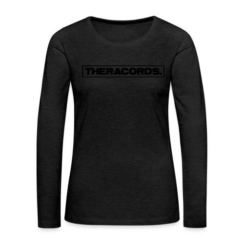 Theracords_logo_black_TP - Vrouwen Premium shirt met lange mouwen