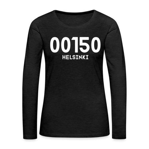 00150 HELSINKI - Naisten premium pitkähihainen t-paita