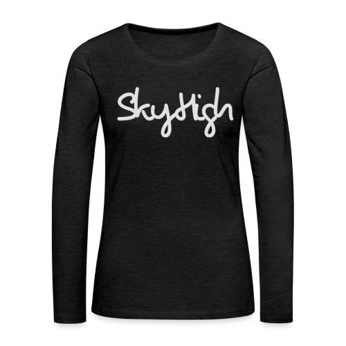 SkyHigh - Men's T-Shirt - Gray Lettering - Women's Premium Longsleeve Shirt