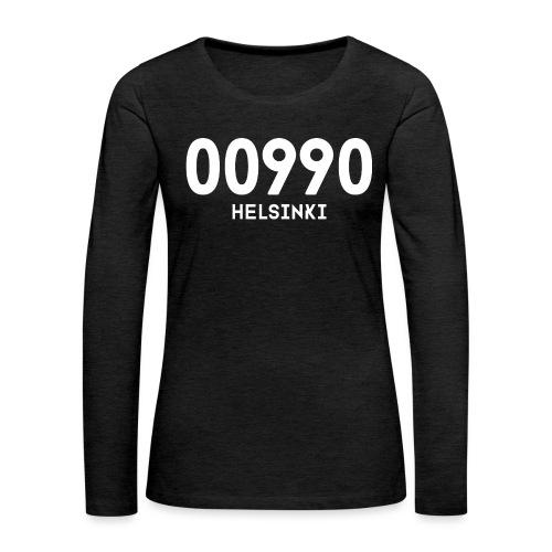 00990 HELSINKI - Naisten premium pitkähihainen t-paita