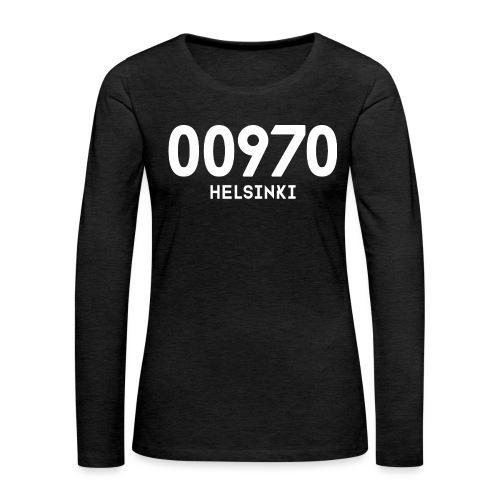 00970 HELSINKI - Naisten premium pitkähihainen t-paita