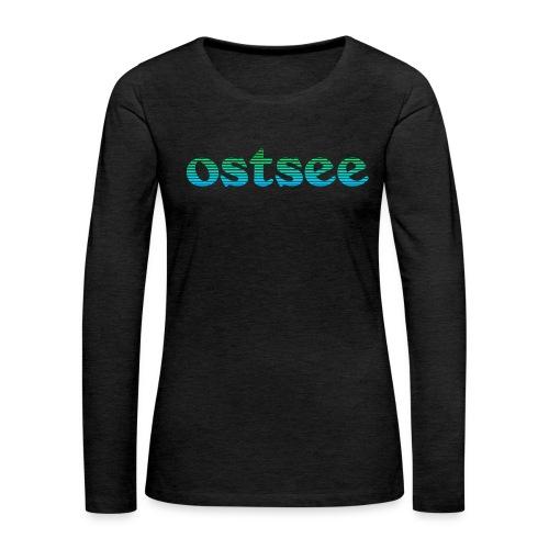 Ostsee Streifen - Frauen Premium Langarmshirt