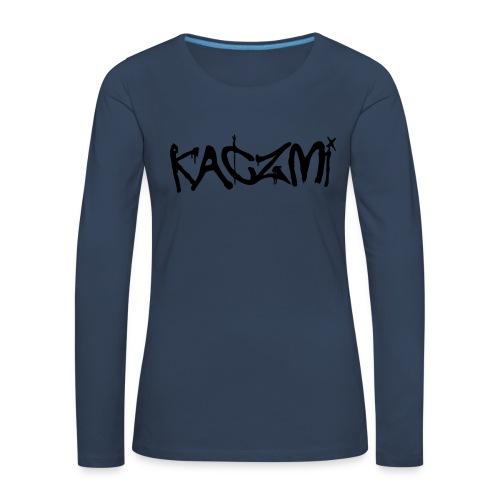 kaczmi - Koszulka damska Premium z długim rękawem