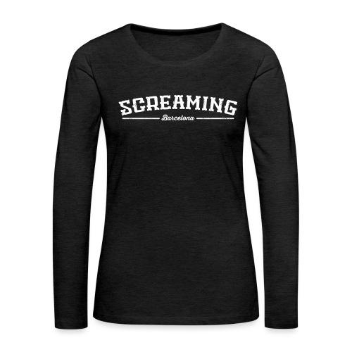 SCREAMING - Camiseta de manga larga premium mujer
