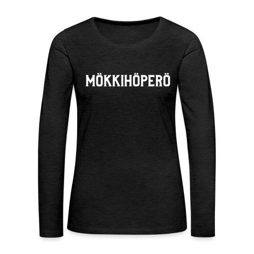 mokkihopero - Naisten premium pitkähihainen t-paita