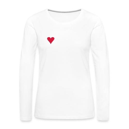 I LOVE VAAKSY - Naisten premium pitkähihainen t-paita