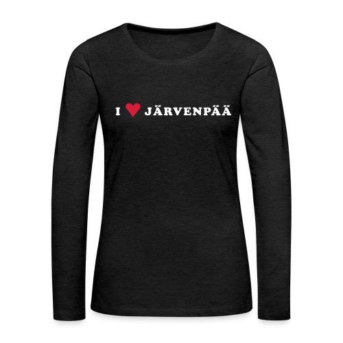 I LOVE JARVENPAA - Naisten premium pitkähihainen t-paita