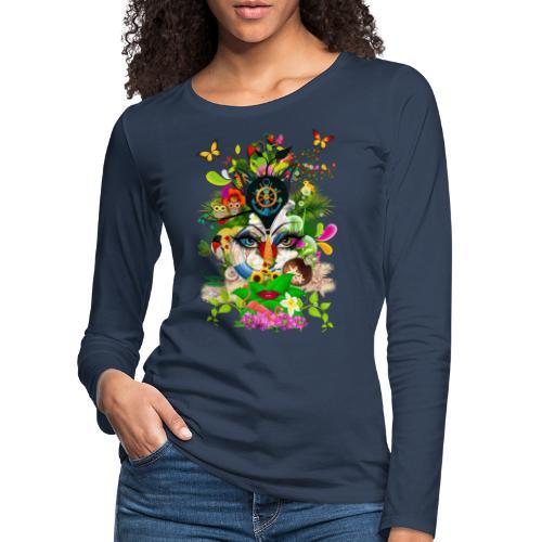 Parfum d'été by T-shirt chic et choc - T-shirt manches longues Premium Femme
